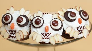 HARRY POTTER OWL CUPCAKES - NERDY NUMMIES