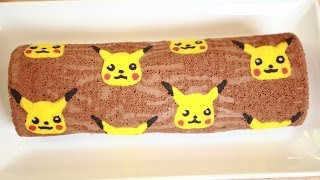 PIKACHU CHOCOLATE ROLL CAKE - NERDY NUMMIES