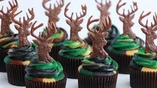 CAMOUFLAGE DEER HUNTER CUPCAKES - NERDY NUMMIES