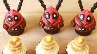 HOW TO MAKE DEADPOOL CUPCAKES - NERDY NUMMIES