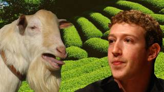 Mark Zuckerberg Eats Goats!