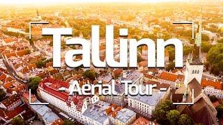 TALLINN ESTONIA- AERIAL TOUR 4K