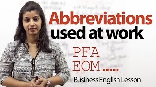 Abbreviations used at work – Business English lesson