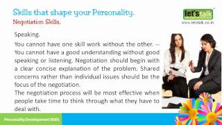 Negotiation Skills - Personality Development Skills Part 4 ( www.letstalk.co.in)