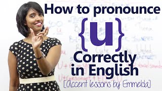 How to pronounce the letter 'u' correctly in English - English Accent training lesson