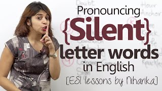 English lesson - Pronouncing Silent letter English words ( Learn English for free)