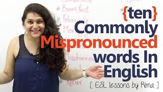 10 commonly mispronounced words in English - Spoken English lesson