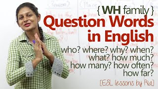 English Grammar lesson – WH question words – Improve English speaking