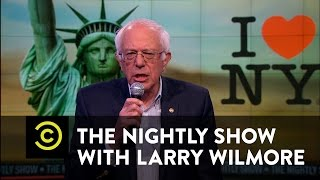 "The Nightly Show - Bernie Sanders Slams Ted Cruz for His ""New York Values"" Talk"