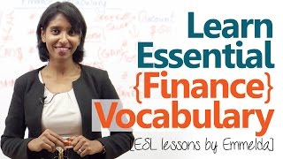 Learn essential finance terms & vocabulary - Free English lessons online
