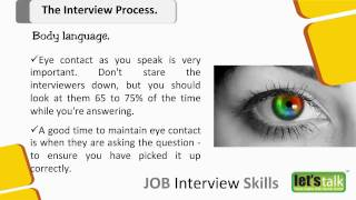 Interview Skills Training - Part 4.2 |  Body Language in an Interview