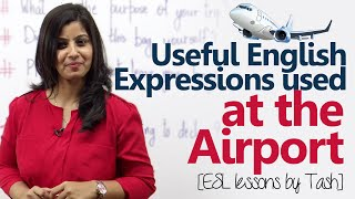 Useful English expressions used at the Airport - Free Spoken English lesson