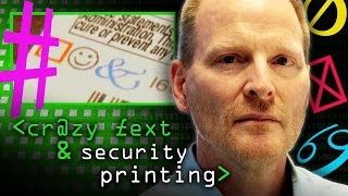 Crazy Text & Security Printing - Computerphile