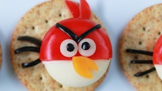 ANGRY BIRDS CHEESE AND CRACKERS - NERDY NUMMIES
