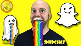 AMAZING Facts You Never Knew About SNAPCHAT!-Facts in 5