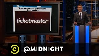 Joe Randazzo, Mary Holland, Dave Hill - Ticketmaster of Puppets - @midnight with Chris Hardwick