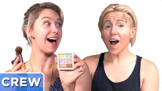 Clown Contouring Makeup Ft. Hannah Hart- Good Mythical Crew Ep. 23