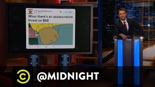 The Secret Service Subtweets Donald Trump - @midnight with Chris Hardwick