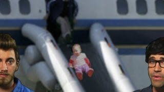 Man Opens Plane Hatch for Baby