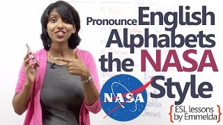 English Lesson -  Pronounce English alphabets - The NASA style ( Telephone conversation Skills)
