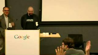 "Authors@Google: Cory Doctorow & Charles Stross | ""The Rapture of Nerds"""