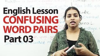 English Lesson : Confusing word pairs Part 03 | Free English Grammar Lessons