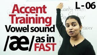 Accent Training lesson 07 : /æ/ as in Fast
