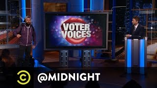 Voter Voices: A Normal American Millennial - @midnight with Chris Hardwick