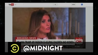 Melania Trump's Cyberbullying Concerns - @midnight with Chris Hardwick