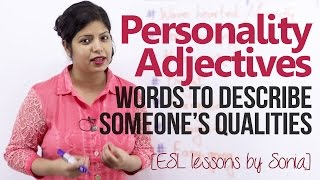 Personality Adjectives - Words to describe someone's qualities (Beginner English Lesson)