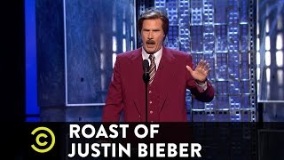 Roast of Justin Bieber - Ron Burgundy - A Star-Studded Evening  - Uncensored