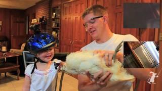 Chicken Powered Steadicam vs Kid cam