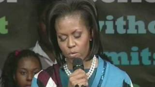 Michelle Obama's plea for education
