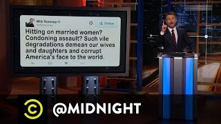 Mitt Romney and Donald Trump's Whirlwind Bromance - @midnight with Chris Hardwick