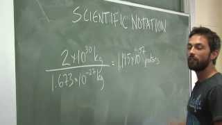 Scientific Notation - Example