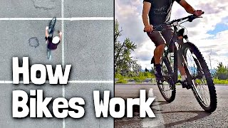 The Counterintuitive Physics of Turning a Bike
