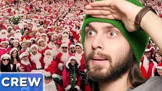 Finding the Real Santa at Santacon | Good Mythical Crew Ep. 43