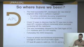 Morten Kromberg, CTO, Dyalog Ltd. | Talks at Google