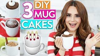 3 EASY DIY MUG CAKES!