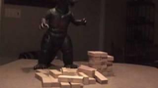 Godzilla doesn't play Jenga