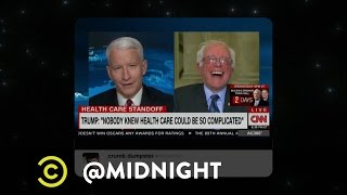 Repeal and Replace - Bernie Busts a Gut - @midnight with Chris Hardwick