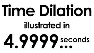 Time Dilation illustrated within ten seconds