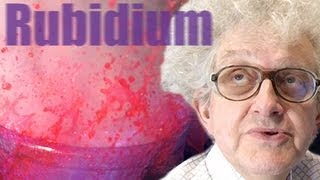 Rubidium, Water and Indicator (slow motion) - Periodic Table of Videos