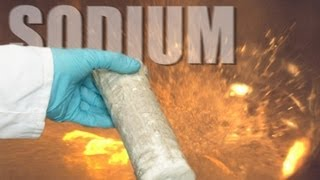 Sodium v Water (slow motion) - Periodic Table of Videos