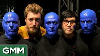 Rhett & Link Join Blue Man Group