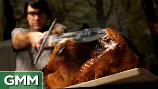 Carving a Turkey With a Sword