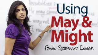 Using May and Might - Basic English Grammar Lesson