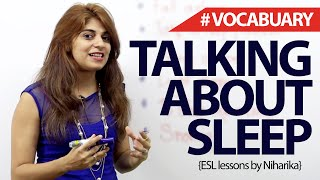 English Phrases to talk about Sleep – Free Spoken English lesson