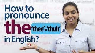 "How to Pronounce ""the"" in English? - English Pronunciation & Grammar lesson"