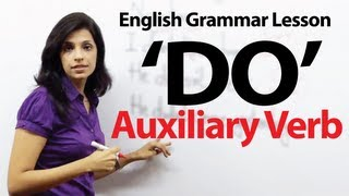 English Grammar Lessons - Auxiliary Verb - 'DO""